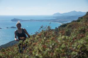 Elena trekking at Monte Oro